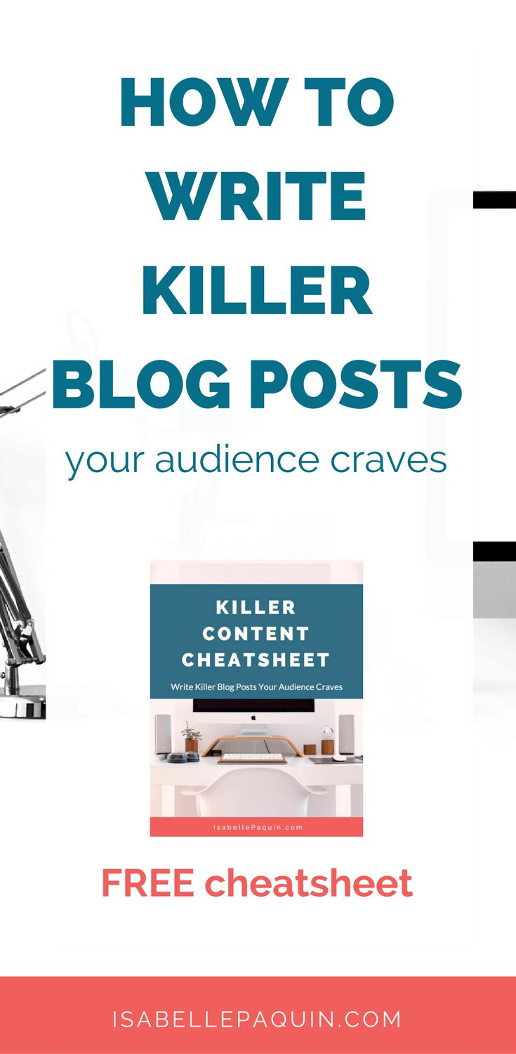 Struggling with finding blog post ideas? Learn how to write killer blog posts your audience craves with this FREE cheatsheet.