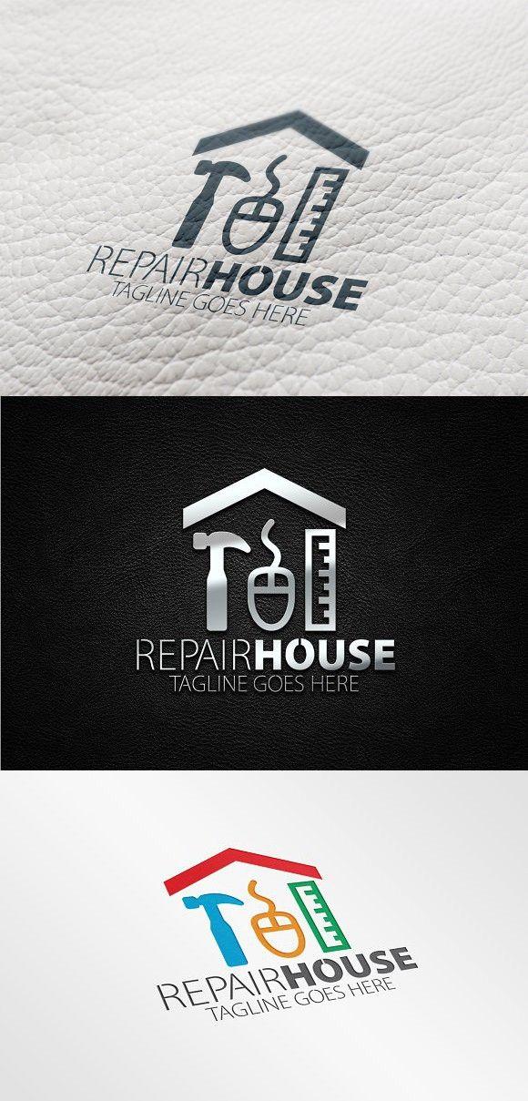 Repair House Logo Home Logo Logos Logo Design