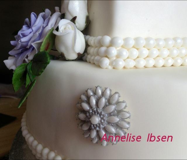 Wedding cake flower Bryllupskage lilla blomster