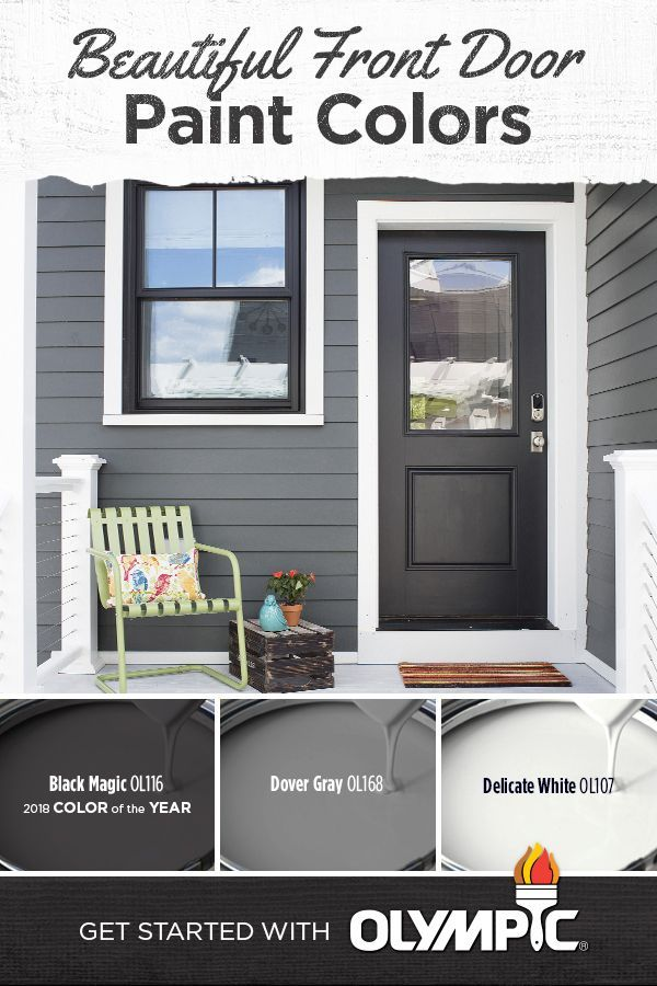 Front Door Paint Colors | The Color of the Year isn't just for interiors. In fact, with some complementary shades and a little inspiration, Black Magic can even look great on your front door. Best of all, you can create this stunning look on a relatively small budget. Make this the weekend that you finally update your exterior. We can help you get started today.