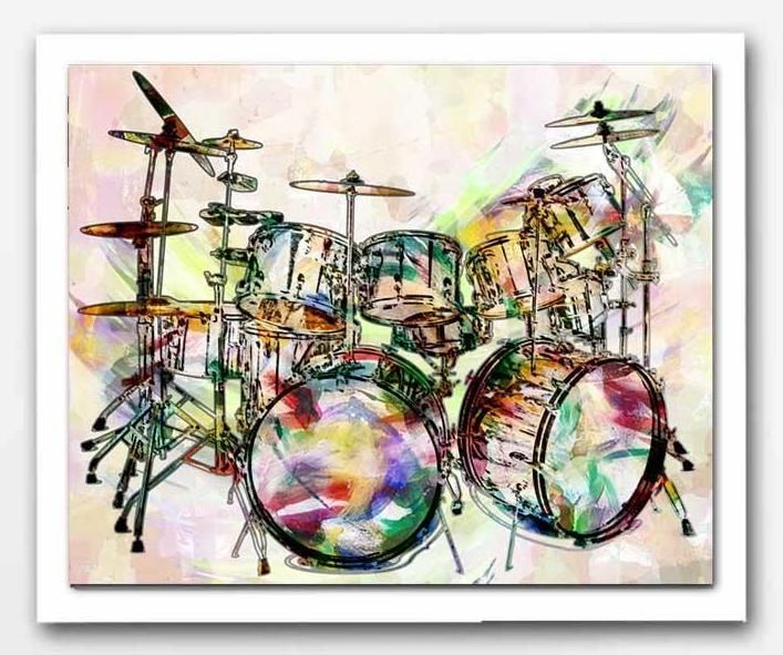 Drum Roll Cool Drums Artwork Music Wall Decor Drummer Drums Art Drummer Gifts Art