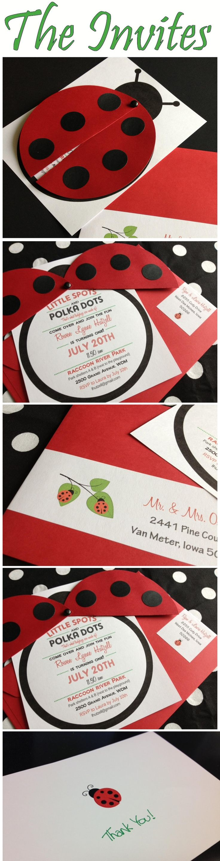 Creative ladybug invitation for birthday #birthdayinvite #ladybuginvite #ladybugbirthday