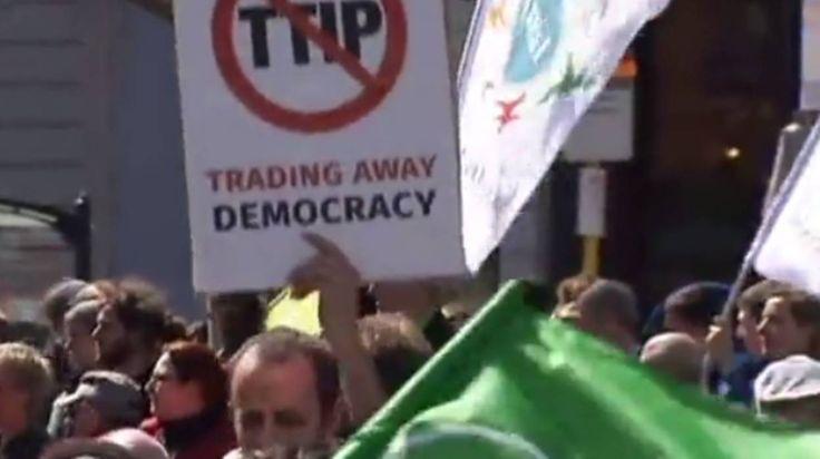 Les Euromarches contre le TTIP veulent encercler le Sommet européen à Bruxelles