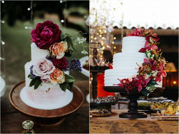 Bolo de Casamento Branco com Flores | Blog de Casamento DIY da Maria Fernanda