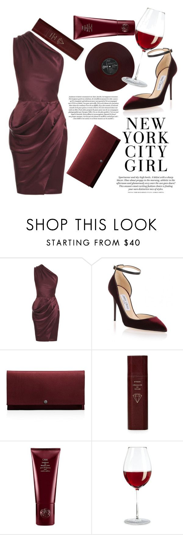 """Dinner date outfit inspiration"" by aisha-fitriyah ❤ liked on Polyvore featuring H&M, Roksanda Ilincic, Jimmy Choo, Shinola, Byredo, Marc Jacobs and Oribe"