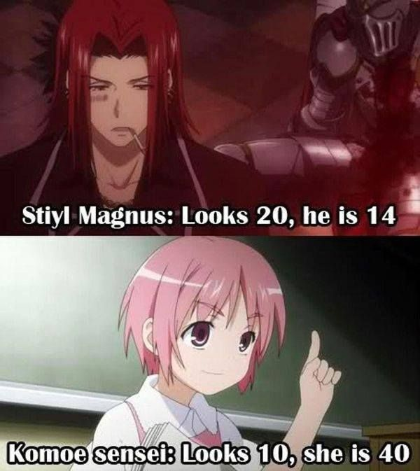 Only in anime. But seriously, Stiyl is 14!? HOW!? -- A Certain Magical Index