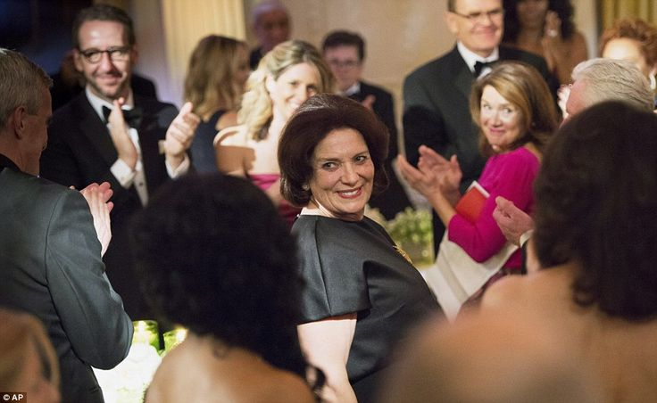 Family affair: Margaret Trudeau, mother of Canadian Prime Minister Justin Trudeau, is appl...