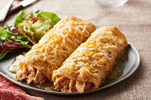 KRAFT RECIPE MAKERS Verde Chicken Enchiladas Recipe - Kraft Recipes