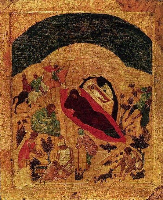 Рождество Христово - новгородская икона