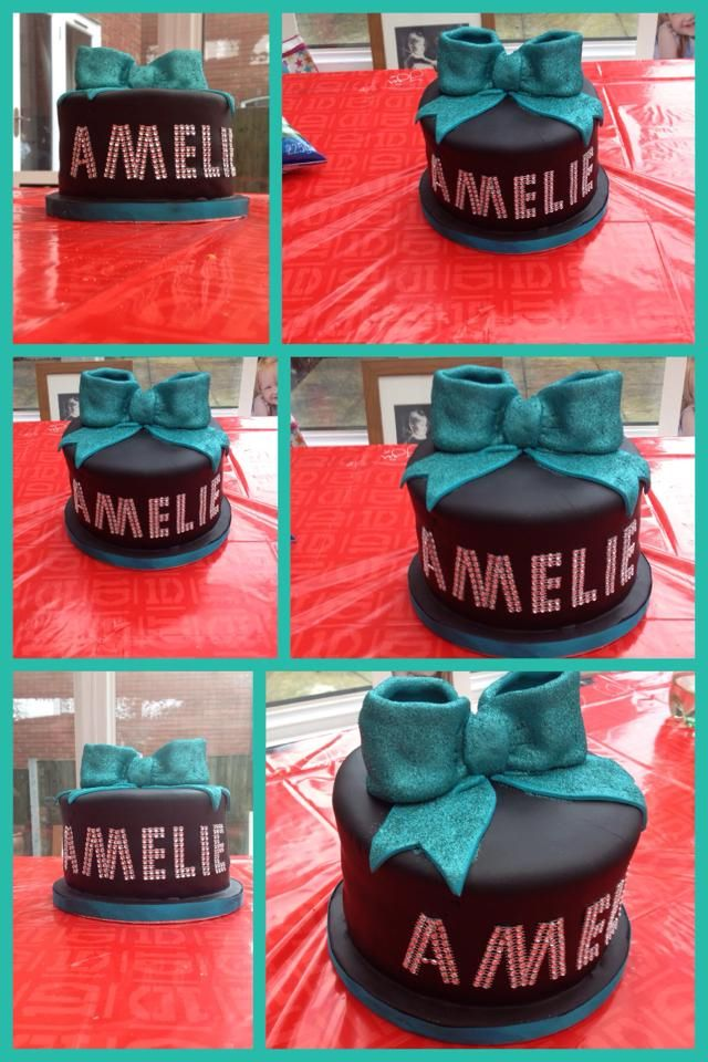 Cheerleading birthday cake- Thank you for such a wonderful cake. It is delicious and Amelie loved it xxxx