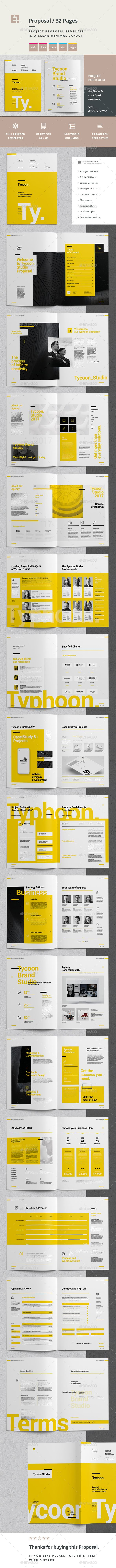 Proposal — InDesign INDD #indesign #professional • Available here ➝ https://graphicriver.net/item/proposal/21017467?ref=pxcr