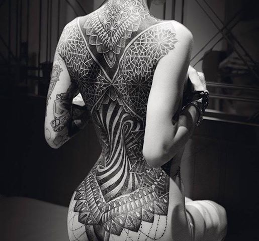 This Year's First Place Winner of Best Dot Work at the The Great British Tattoo Show by Tattoo Artist Glenn W Cuzen