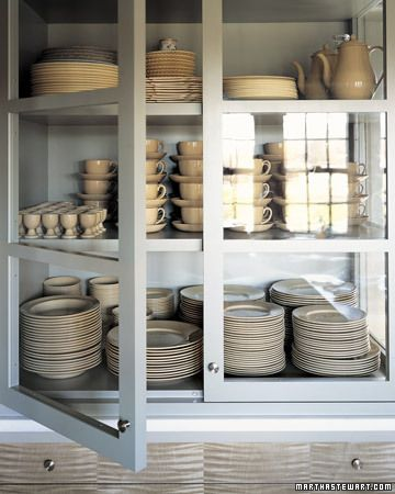 China Cupboard: Ideas, China Cabinets, Plates, Dreams, Glasses Cabinets, Martha Stewart, Kitchens Cupboards, Glasses Doors, Kitchens Cabinets