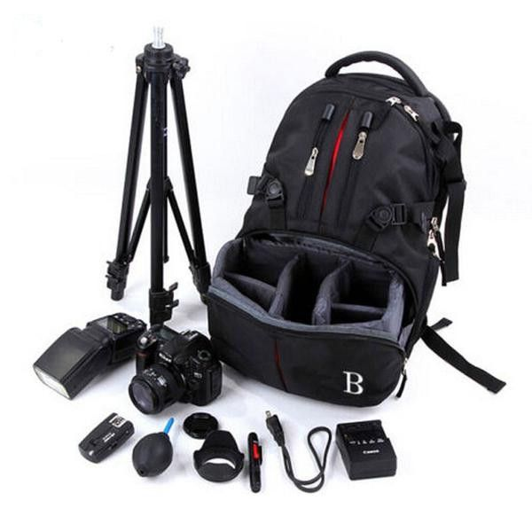 Deluxe Luxury High-Quality Waterproof Durable Multifunctional DSLR SLR Camera Backpack w/Rain Cover