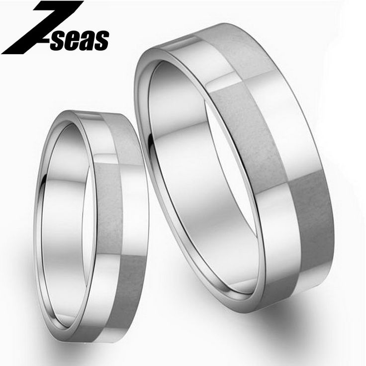 1 Piece Price Fashion Stainless Steel Couple Finger Rings New Romantic Engagement Wedding Promise Rings Women Men Jewelry,JM036