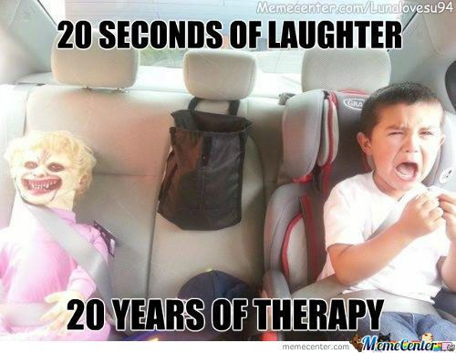 Prank Idea Hours of laughter and the kid will get over it or not..LOL