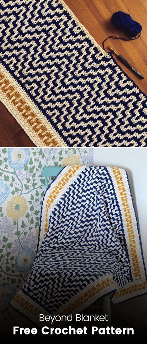 Beyond Blanket Free Crochet Pattern #crochet #blanket #crafts #homedecor #handmade