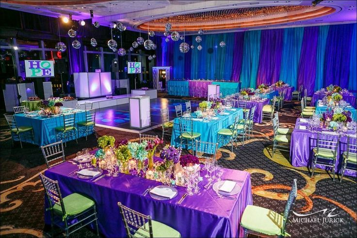 purple and turquoise wedding decorations 21