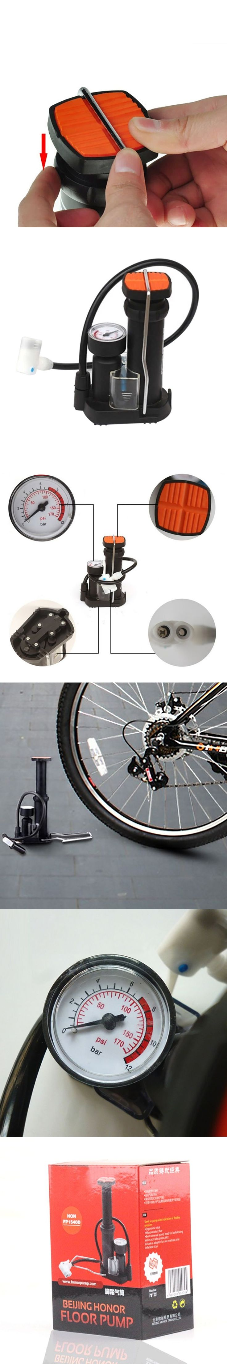 High-pressure Bicycle Pump Cycling Pedal Straddling Inflator Road&Mountain Bike Mini Portable Bike Pumps Bicycle Accessories