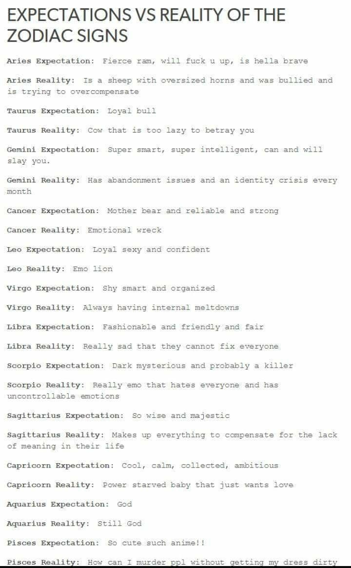 Zodiac Memes | Mind Journal