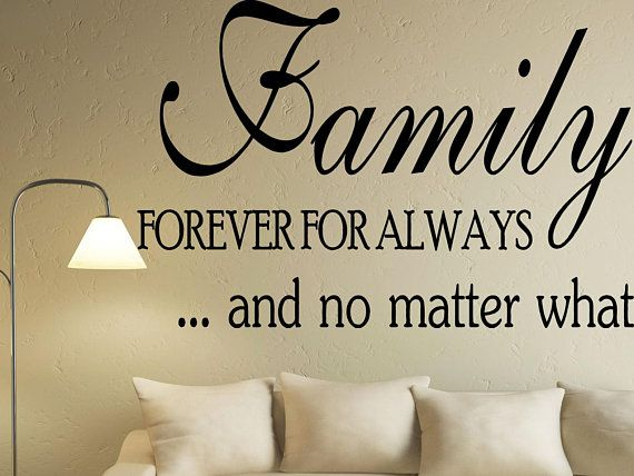 Family Quote Wall Decals Living Room Wall Decor Etsy Family Wall Quotes Wall Decals Living Room Wall Quotes Decals