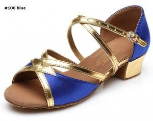 latin dance shoes professional #106 blue
