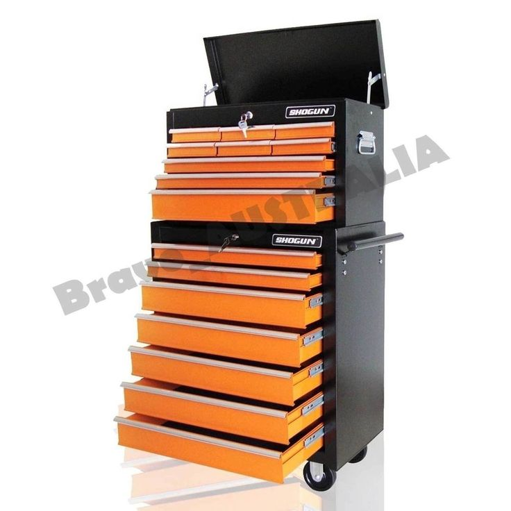 16 Drawer Home Mechanic Tool Box Storage Cabinet Chest Trolley Toolbox