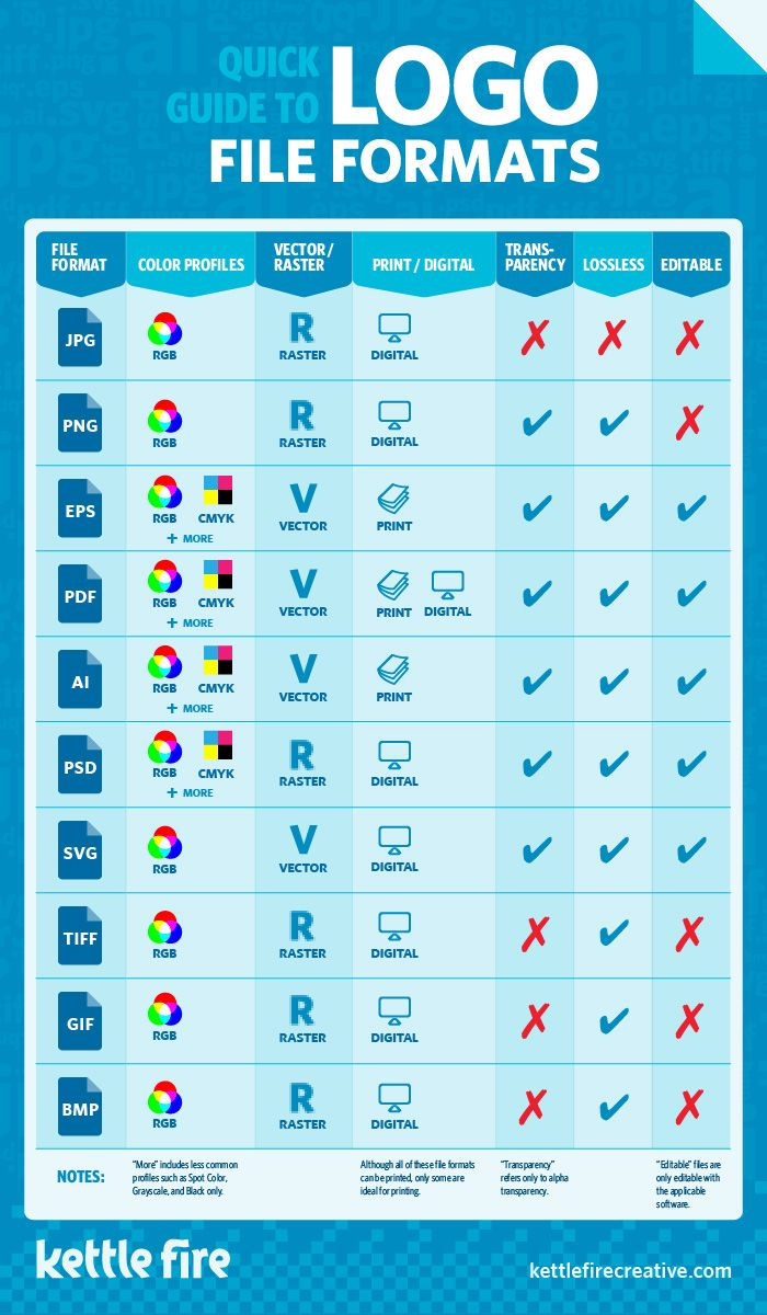 Psd Vector Eps Jpg Download: Logo File Formats Quick Guide Infographic, JPG, PNG, EPS