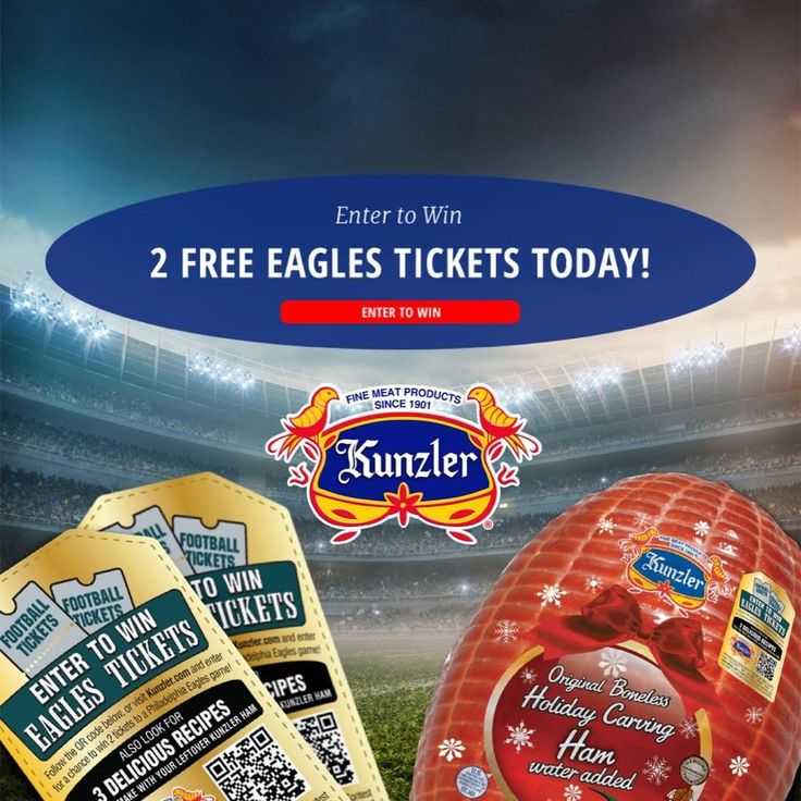 Some of our favorite things are ham and the @PhiladelphiaEagles. Learn how they go together and be entered to win game tickets! Link in bio. . . . . #Philadelphia #Eagles #PhiladelphiaEagles #ticketgiveaway #ham #Kunzlerham #NFL #holidayham