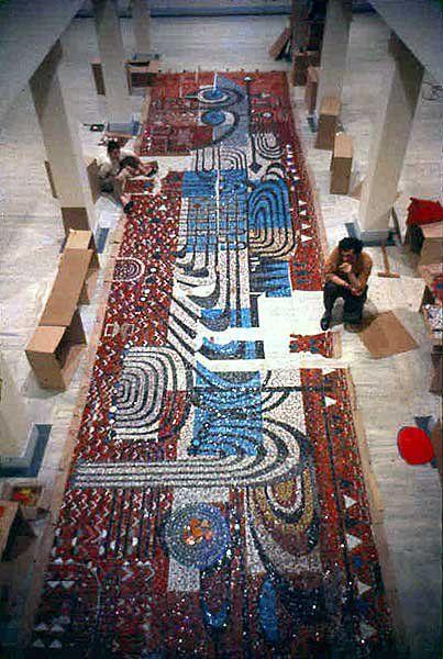 Kaybolan Sanat - Bedri Rahmi'nin 4. Levent Mozaikleri - Arkeoloji, Keşif, Gezi yazı ve fotoğrafları..