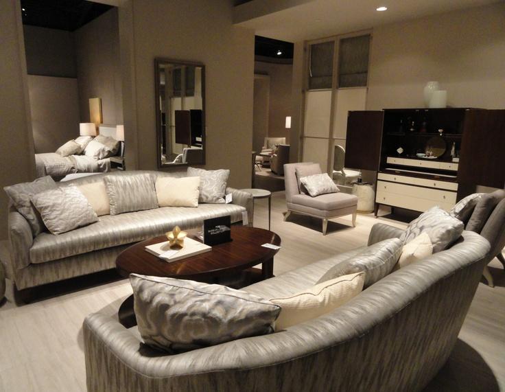 Simply Elegant Living Room Setting Designed By Barbara Barry For Baker