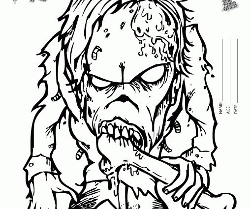 spooky halloween coloring pages free - photo#26