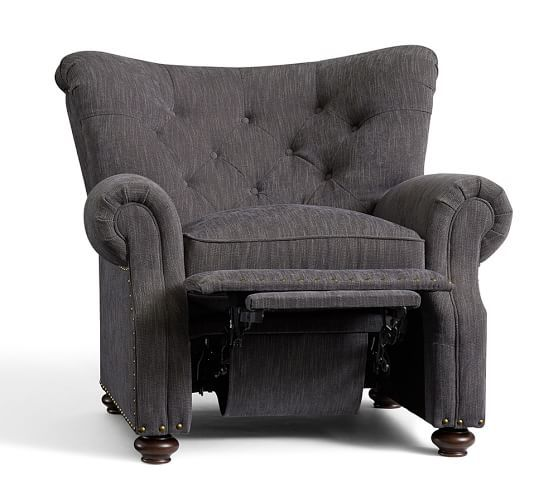 Lansing Upholstered Recliner | Pottery Barn