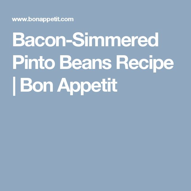 100+ Pinto Bean Recipes on Pinterest | Beans Recipes, Recipe and Beans