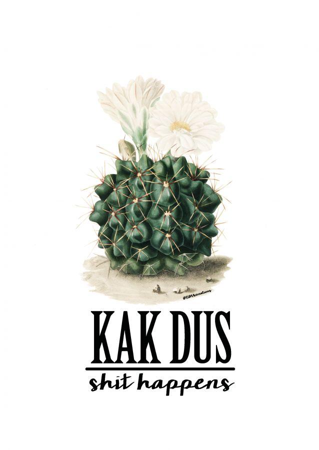 Postkaart KAK dus Shit Happens Deze geweldigKAK dus Shit Happens kaart is een ontwerp van Lumacreation. Het ontwerp is helemaal van nu. Vintage feelmet de o zotrendy cactus in...