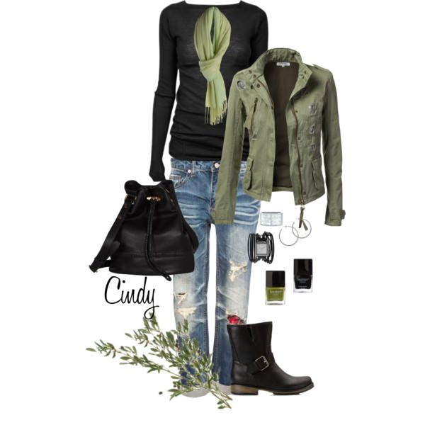 Fall OutfitArmy Green, Womens Fashion, Style, Clothing, Casual Winter Outfit, Fall Outfits, Casual Outfits, Fall Winter, Green Jackets
