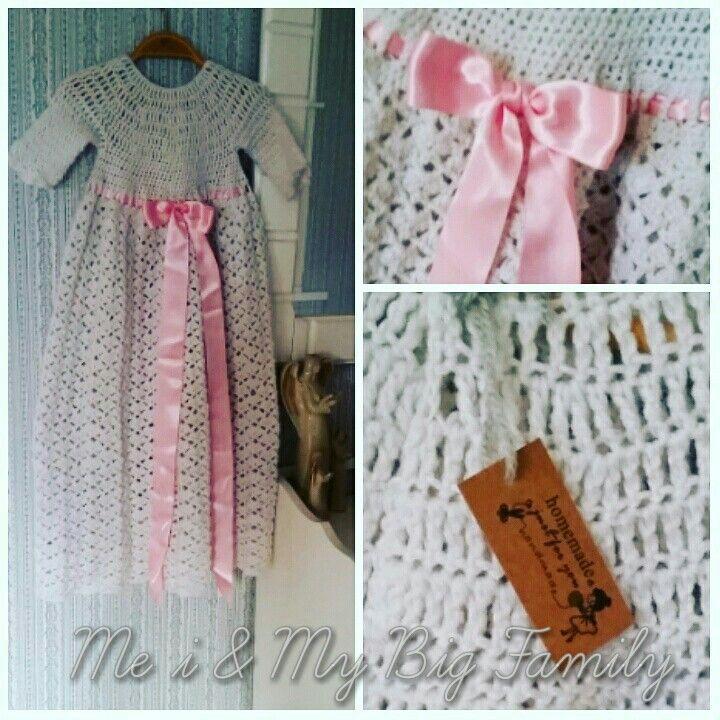 Handvirkad dopklänning  Crochet Christening