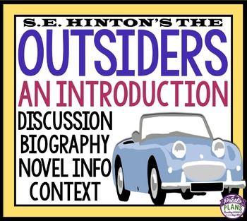 Outsiders Introduction Activities English Language And