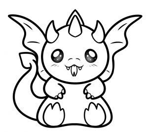how to draw a kawaii dragon step 6