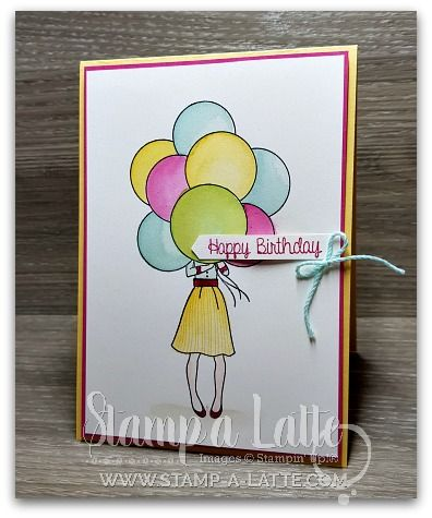 Hand Delivered Birthday By Leonie Schroder Independent Stampin Up Demonstrator Australia