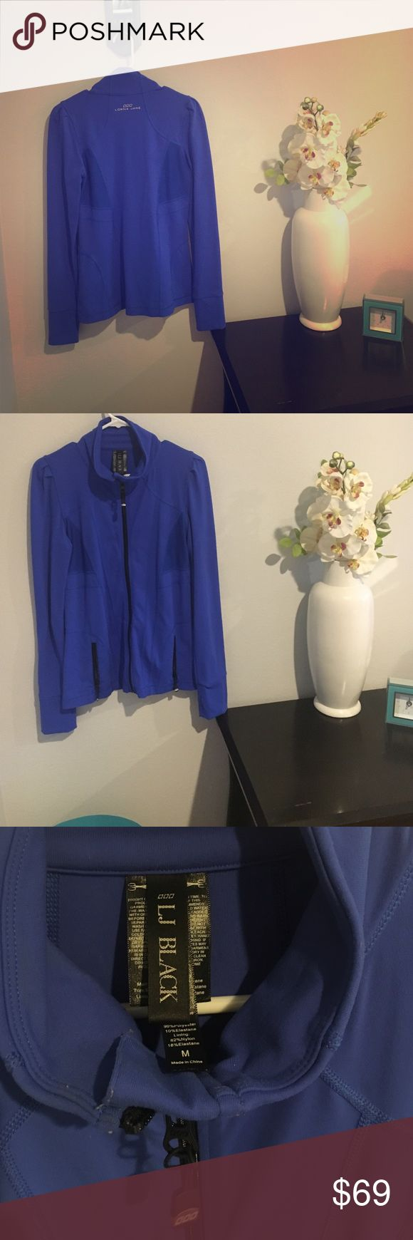 Lorna Jane Jacket  ( Blue with Black Zippers ) Electric Blue Zip Up Jacket ( Lorna Jane Black Series) Lorna Jane Jackets & Coats