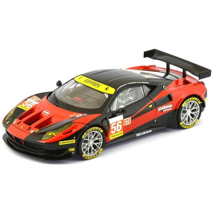 Carrera Ferrari 458 Italia GT2 No.56 AT Racing. High quality detail and finish, which makes these 1:32 scale slot cars great value. Comes displayed in clear case and is ready to race straight out of the box. Compatible for use on 1:32 track systems such as Scalextric, Ninco, Carrera and SCX.