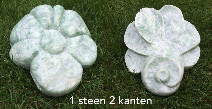 Bloem, Speksteen, 1 steen 2 kanten