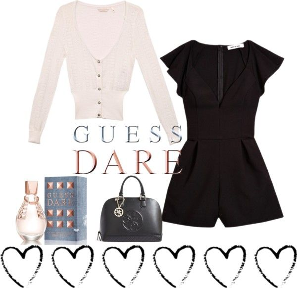 """""""Heat Up Your Valentine's Day with GUESS DARE: Contest Entry"""" by ebeth0896 ❤ liked on Polyvore"""