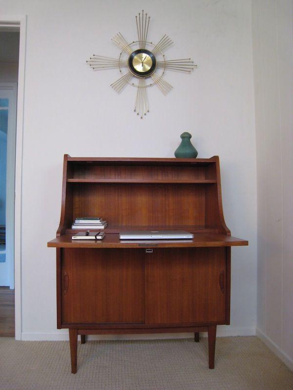 midcentury modern secretary desk my house pinterest. Black Bedroom Furniture Sets. Home Design Ideas