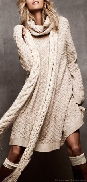 Cable-knit dream. So comfortable!
