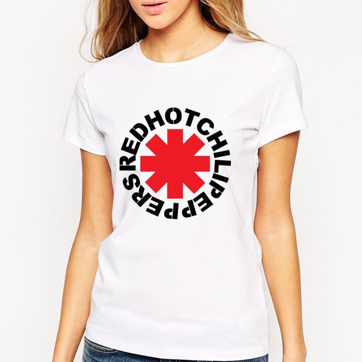 Encontrar Más Camisetas Información acerca de Red Hot Chili Peppers camisetas mujeres mujer camiseta de algodón de manga corta cuello de O Tops verano estilo mujeres libres del envío camisetas, alta calidad camiseta del real madrid 2013, China camisa de españa Proveedores, barato camiseta pijamas de T Shirt Custom Store en Aliexpress.com