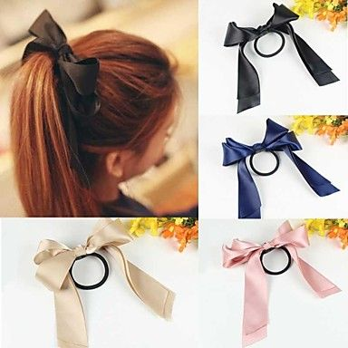 1pc Lovely Bow Ponytail Holder – USD $ 1.99