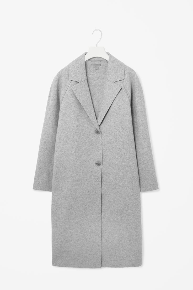 Clean-edge wool coat