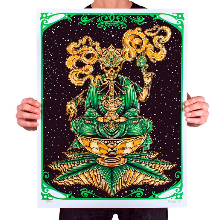 'Transcendental' Screen-Printed Poster Design by Pale Horse